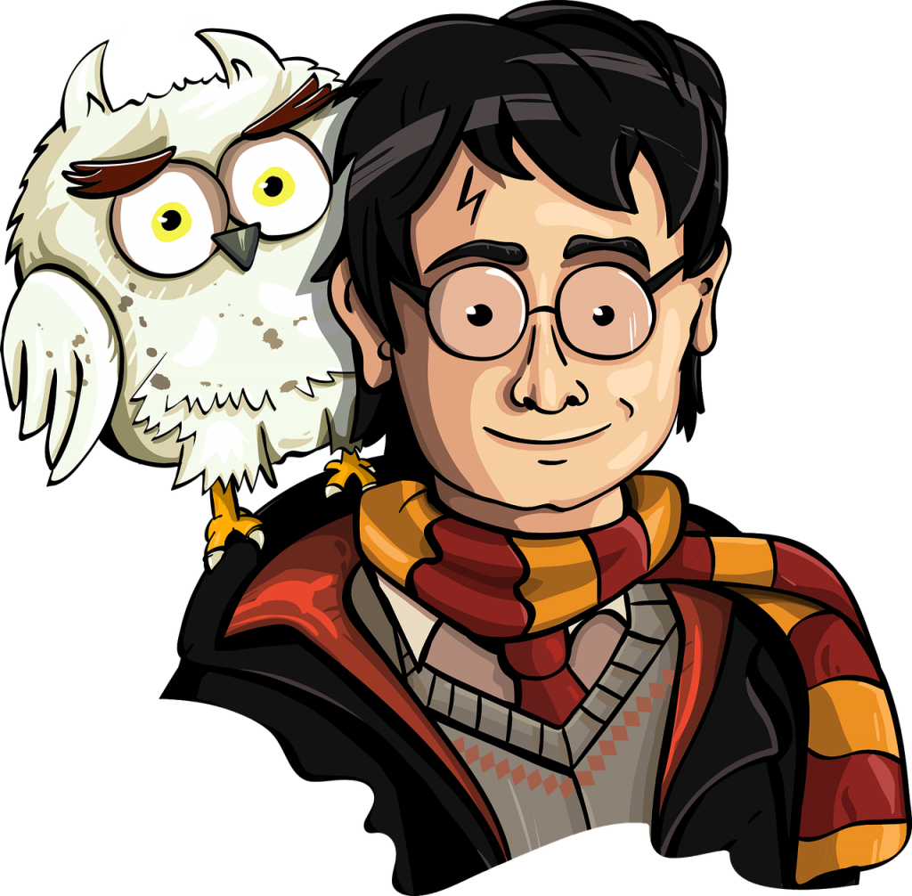 Caricatura de Harry Potter